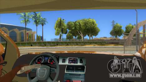 Audi Q7 pour GTA San Andreas vue intérieure