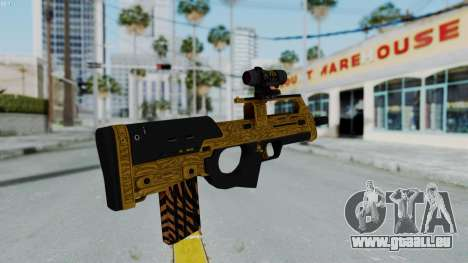 GTA 5 Online Lowriders DLC Assault SMG für GTA San Andreas dritten Screenshot