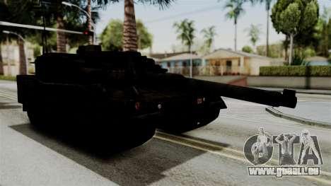 Point Blank Black Panther Rusty pour GTA San Andreas sur la vue arrière gauche