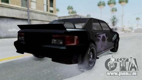 Hotring Sultan pour GTA San Andreas sur la vue arrière gauche