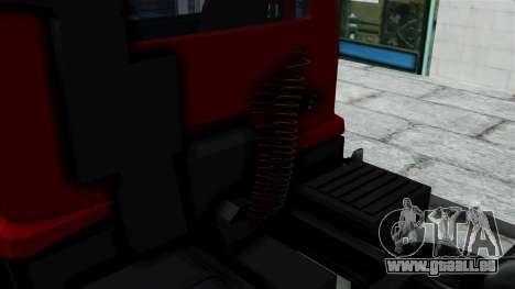 FAP Kamion Stock pour GTA San Andreas sur la vue arrière gauche