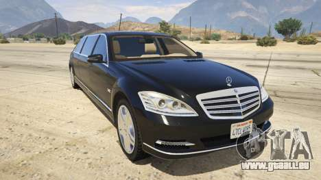 2011 Mercedes-Benz S600 Guard Pullman pour GTA 5