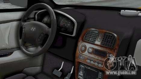 Hyundai Accent Essential Garage für GTA San Andreas rechten Ansicht