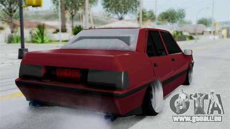 Proton Iswara 1985 Advanced pour GTA San Andreas laissé vue