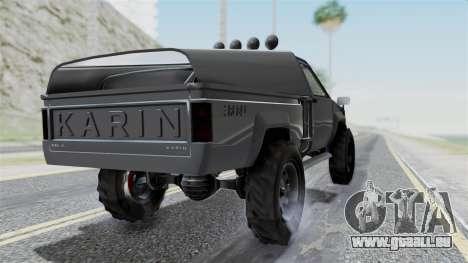 GTA 5 Karin Rebel 4x4 IVF pour GTA San Andreas laissé vue