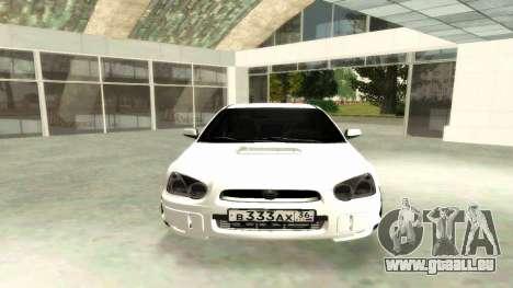 Subaru Impreza WRX STi Civil pour GTA San Andreas vue de droite