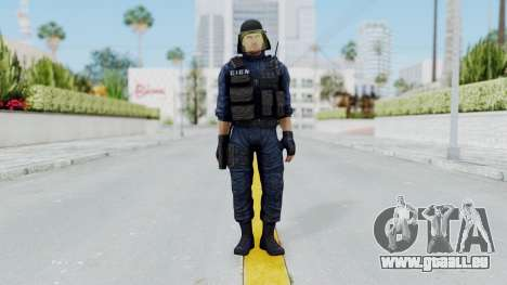 GIGN 1 No Mask from CSO2 für GTA San Andreas zweiten Screenshot