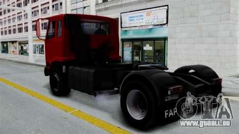 FAP Kamion Stock pour GTA San Andreas laissé vue
