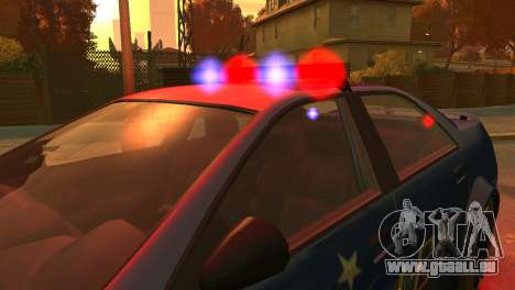 Albany Police Stinger pour GTA 4 est une vue de l'intérieur
