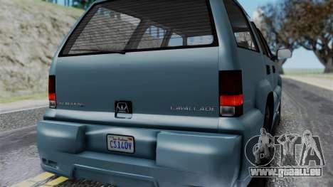 GTA 5 Albany Cavalcade v1 IVF pour GTA San Andreas vue de dessus