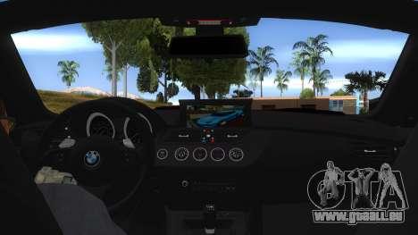BMW Z4 Liberty Walk Performance Livery für GTA San Andreas Innenansicht