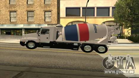 Kenworth T600 Zement-LKW für GTA San Andreas zurück linke Ansicht
