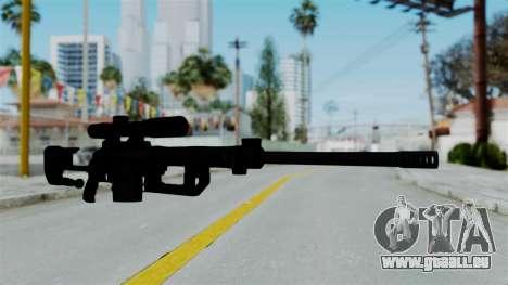 M2000 CheyTac Intervention without Stands pour GTA San Andreas deuxième écran