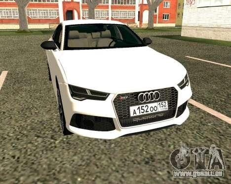 Audi RS7 Quattro pour GTA San Andreas laissé vue