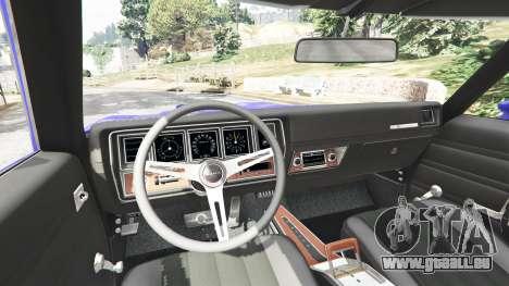 GTA 5 Buick Skylark GSX 1970 arrière droit vue de côté