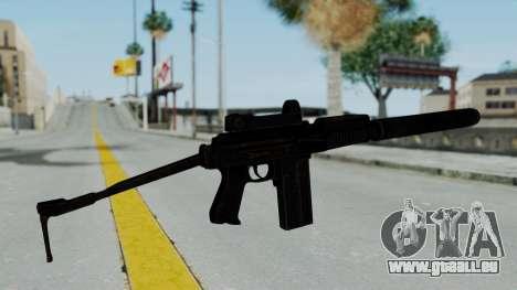 9A-91 Kobra and Suppressor für GTA San Andreas zweiten Screenshot