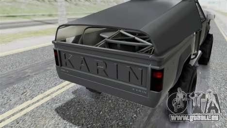 GTA 5 Karin Rebel 4x4 IVF pour GTA San Andreas vue intérieure