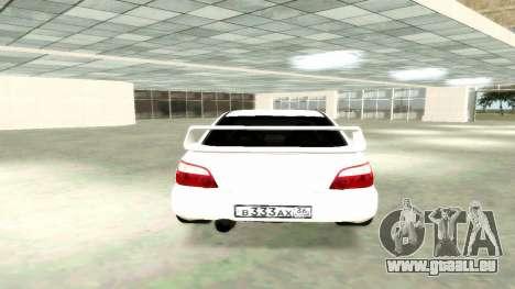Subaru Impreza WRX STi Civil pour GTA San Andreas sur la vue arrière gauche