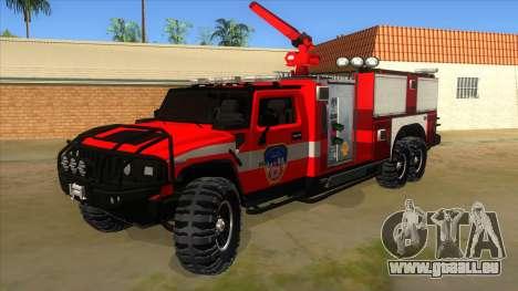 HUMMER H2 Firetruck für GTA San Andreas