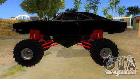 1969 Dodge Charger Monster Truck pour GTA San Andreas laissé vue
