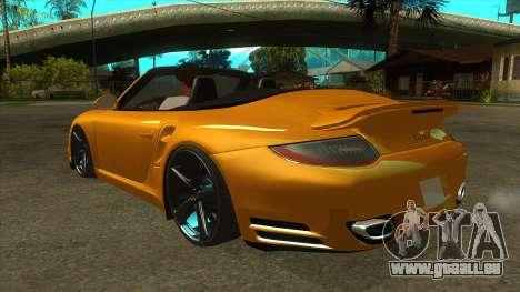 Porsche 911 pour GTA San Andreas sur la vue arrière gauche