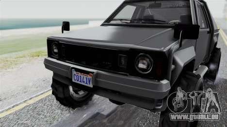 GTA 5 Karin Rebel 4x4 IVF pour GTA San Andreas vue de côté