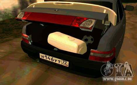 VAZ 2110 v. 2.0 pour GTA San Andreas sur la vue arrière gauche
