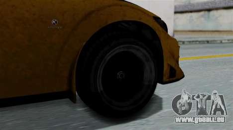 GTA 5 Karin Sultan RS Rally PJ für GTA San Andreas zurück linke Ansicht