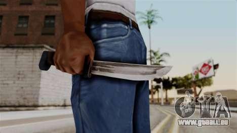 Batman Arkham City - Knife für GTA San Andreas dritten Screenshot