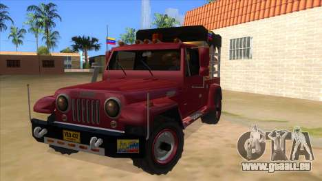 Jeep Pick Up Stylo Colombia pour GTA San Andreas