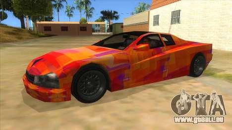 GTA 3 Cheetah ZTR für GTA San Andreas linke Ansicht
