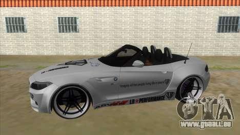 BMW Z4 Liberty Walk Performance Livery pour GTA San Andreas laissé vue