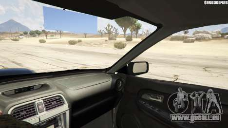GTA 5 2006 Subaru Impreza WRX STI JDM arrière droit vue de côté