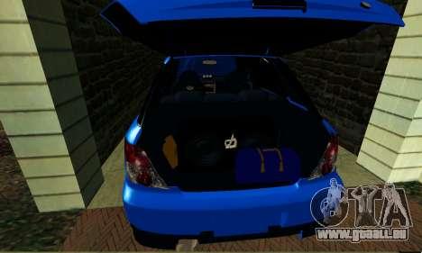 Subaru Impreza WRX STi Wagon 2003 für GTA San Andreas Innenansicht