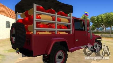 Jeep Pick Up Stylo Colombia pour GTA San Andreas vue de droite