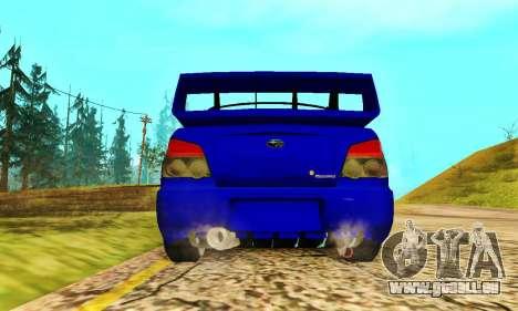 Subaru Impreza WRX STI Lisa pour GTA San Andreas vue arrière
