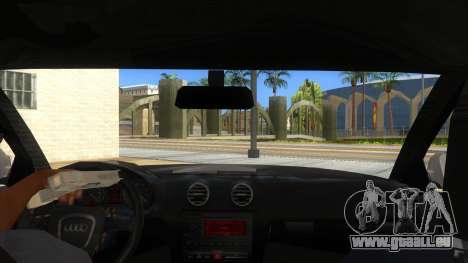Audi S3 pour GTA San Andreas vue intérieure