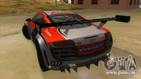 Audi R8 für GTA San Andreas zurück linke Ansicht