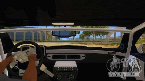2012 Chevrolet Camaro ZL1 Liberty Walk für GTA San Andreas Innenansicht