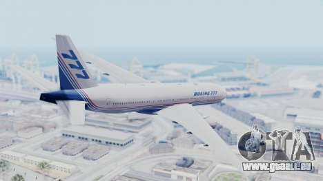 Boeing 777-200 Prototype für GTA San Andreas linke Ansicht