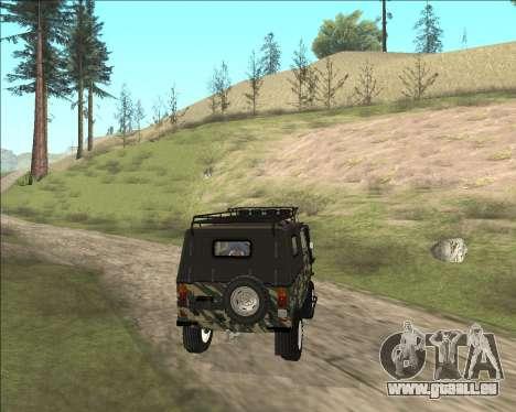 969М LuAZ Off-Road für GTA San Andreas zurück linke Ansicht