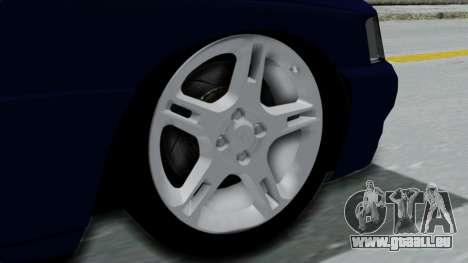 Ford Escort pour GTA San Andreas sur la vue arrière gauche