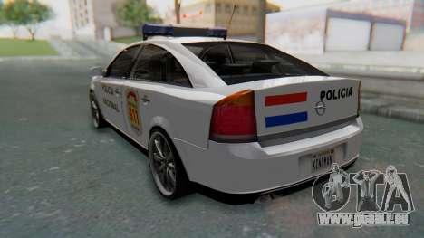 Opel Vectra 2005 Policia pour GTA San Andreas laissé vue