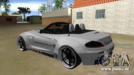 BMW Z4 Liberty Walk Performance Livery pour GTA San Andreas sur la vue arrière gauche