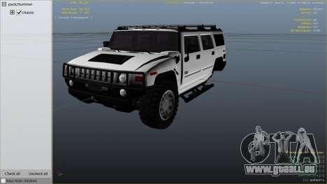 GTA 5 Hummer H2 rechte Seitenansicht