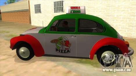 Volkswagen Beetle Pizza pour GTA San Andreas laissé vue