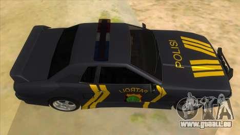 Elegy NR32 Police Edition Grey Patrol für GTA San Andreas Innenansicht