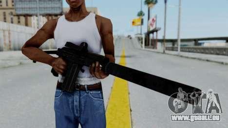 9A-91 Kobra and Suppressor für GTA San Andreas dritten Screenshot