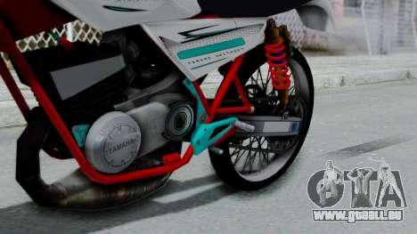 RX- King Putih pour GTA San Andreas vue de droite