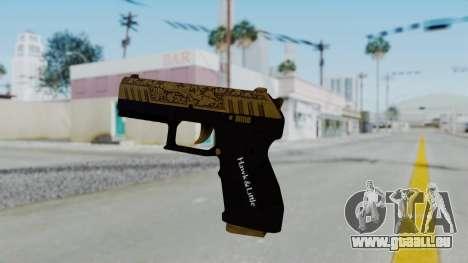 GTA 5 Online Lowriders DLC Combat Pistol pour GTA San Andreas deuxième écran